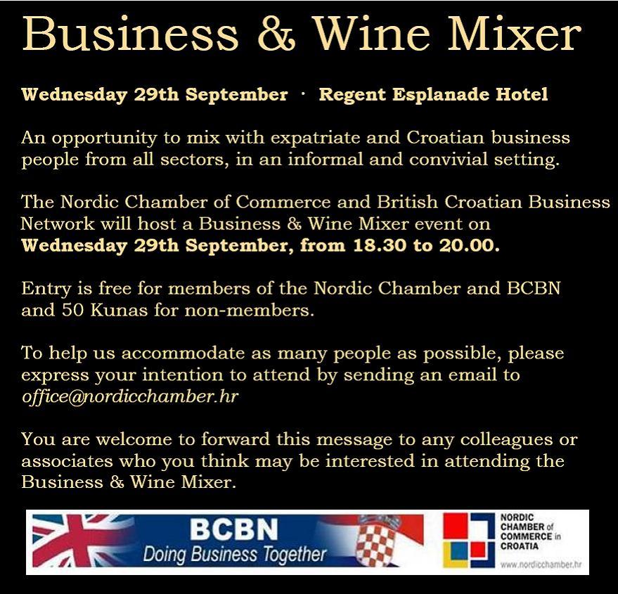 Business & Wine Mixer - 29.09.2010. | www.nordicchamber.hr